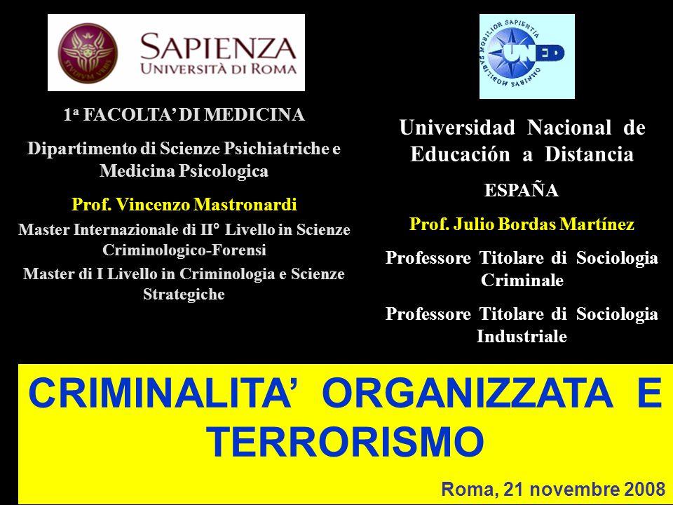 CRIMINALITA' ORGANIZZATA E TERRORISMO