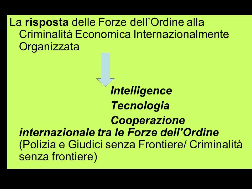 La risposta delle Forze dell'Ordine alla Criminalità Economica Internazionalmente Organizzata