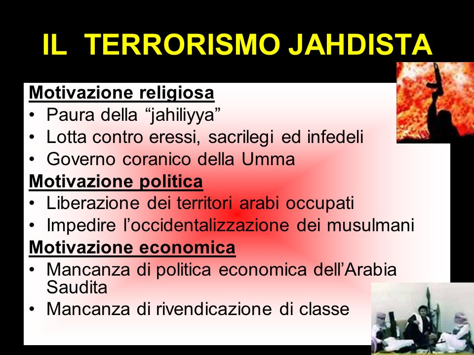 IL TERRORISMO JAHDISTA