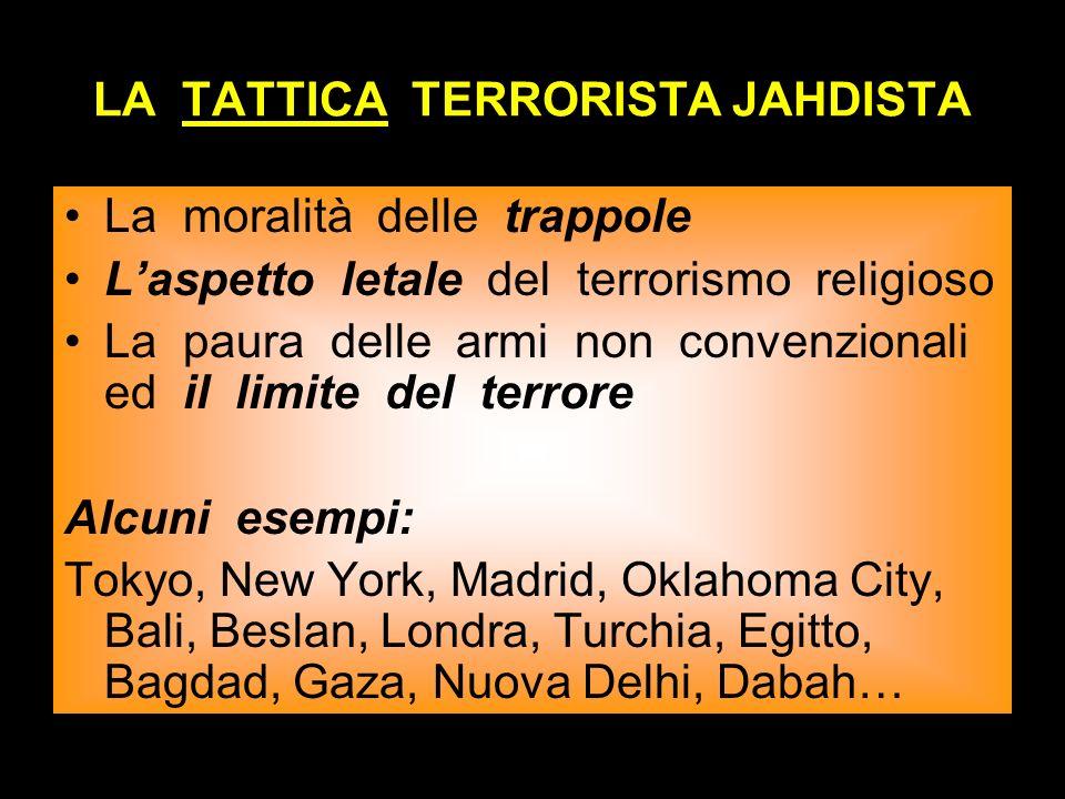 LA TATTICA TERRORISTA JAHDISTA