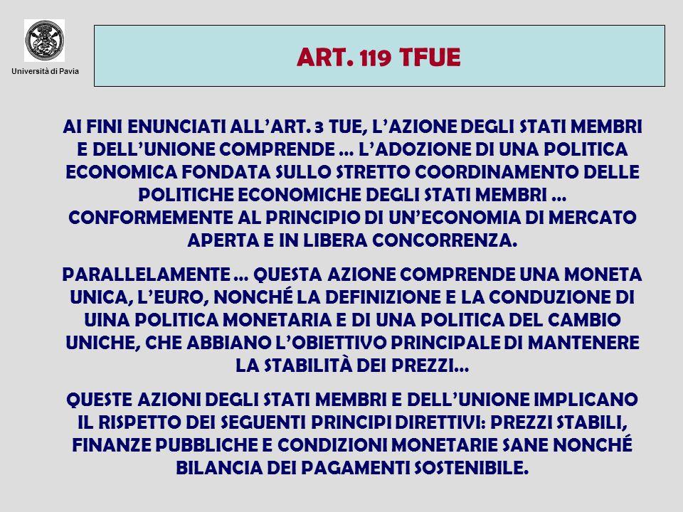 ART. 119 TFUEUniversità di Pavia.