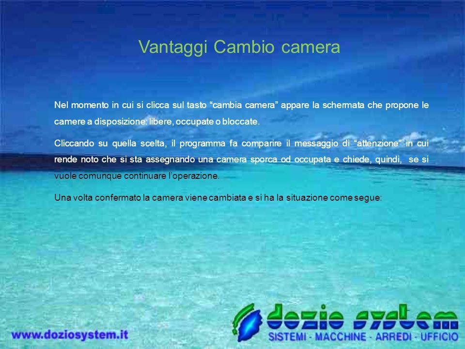 Vantaggi Cambio camera