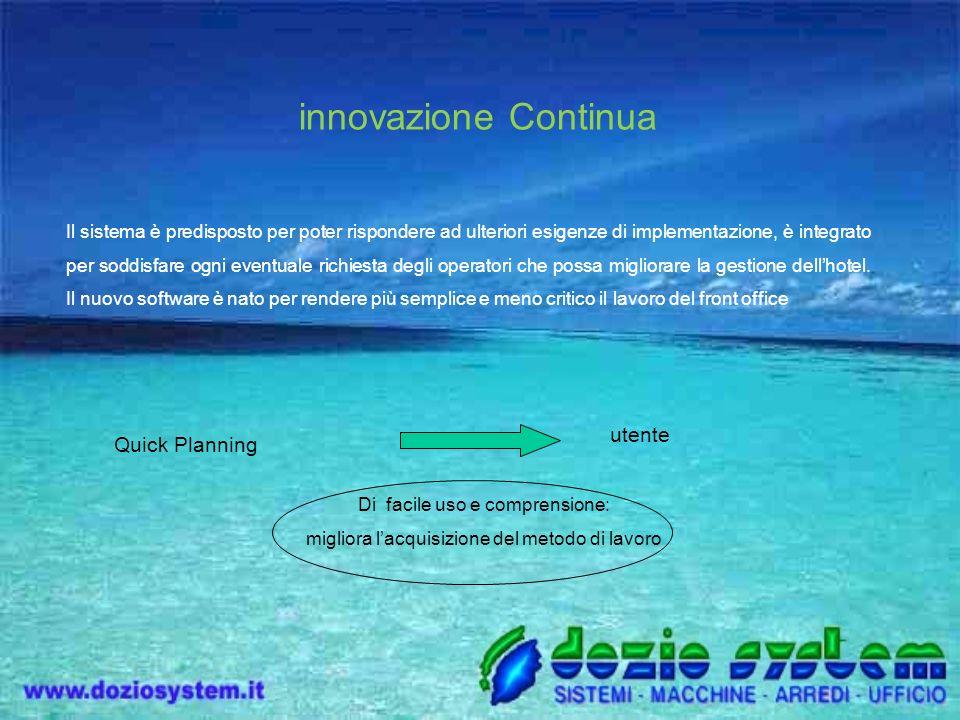 innovazione Continua Quick Planning utente