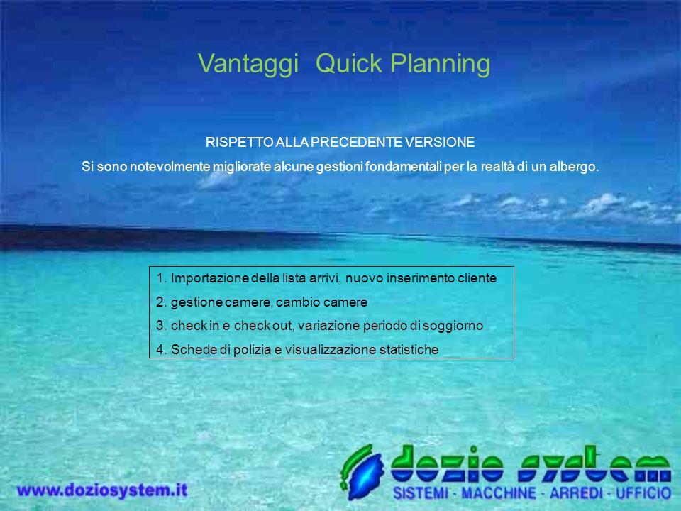 Vantaggi Quick Planning