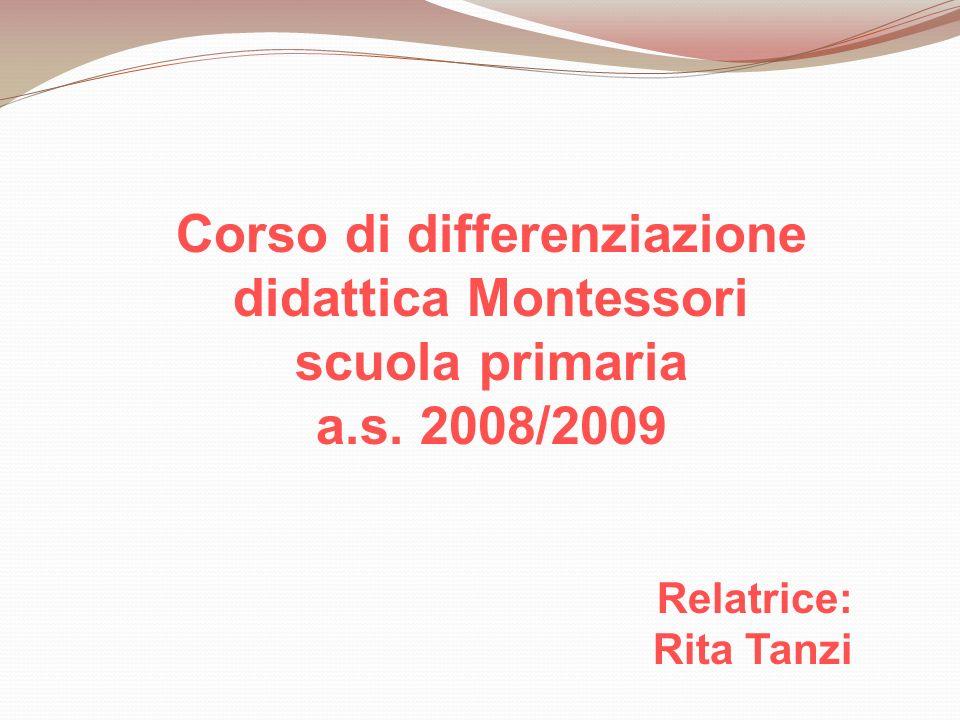 Corso di differenziazione didattica Montessori scuola primaria