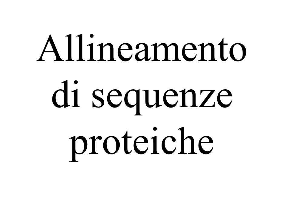 Allineamento di sequenze proteiche