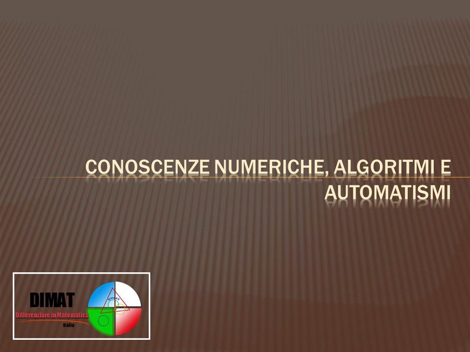 Conoscenze numeriche, algoritmi e automatismi