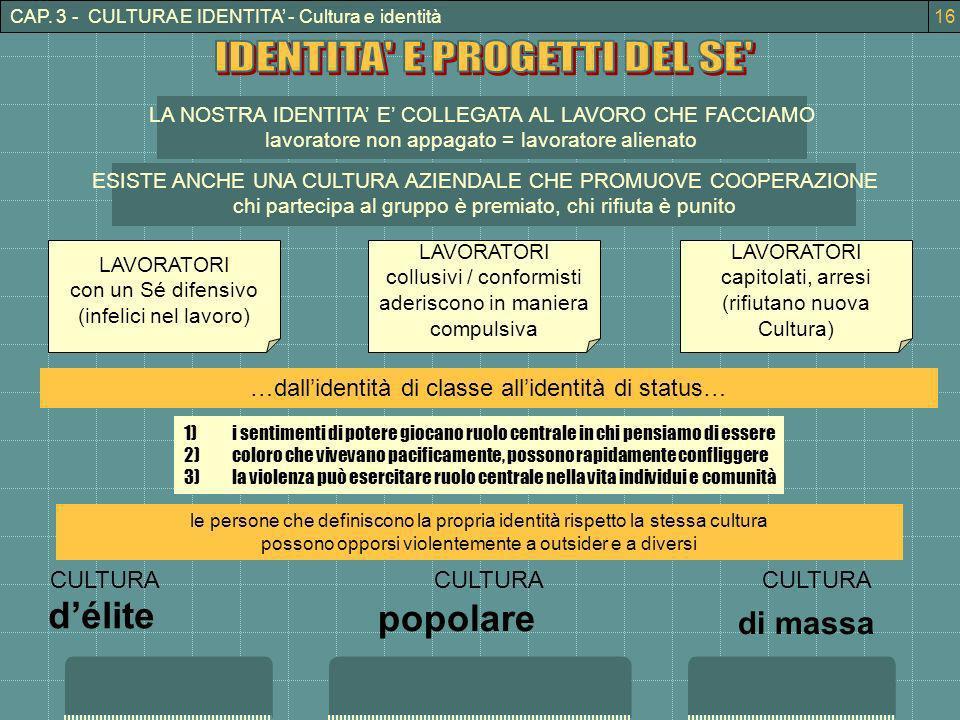 IDENTITA E PROGETTI DEL SE