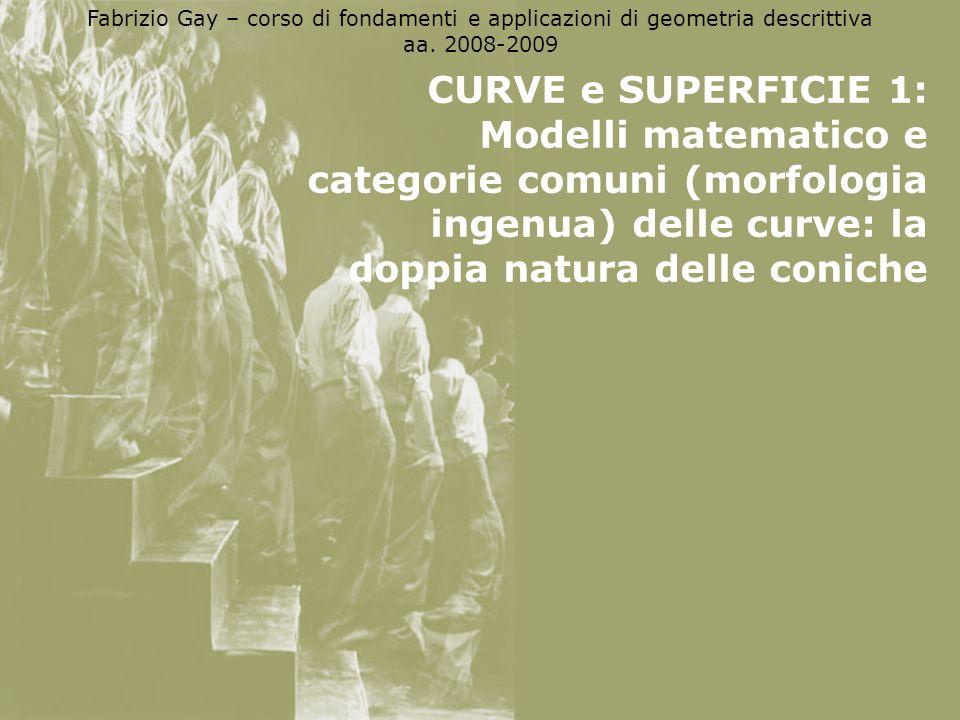 Fabrizio Gay – corso di fondamenti e applicazioni di geometria descrittiva