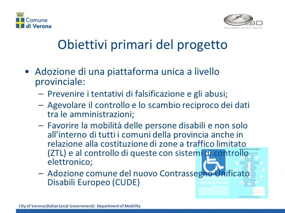 Obiettivi primari del progetto