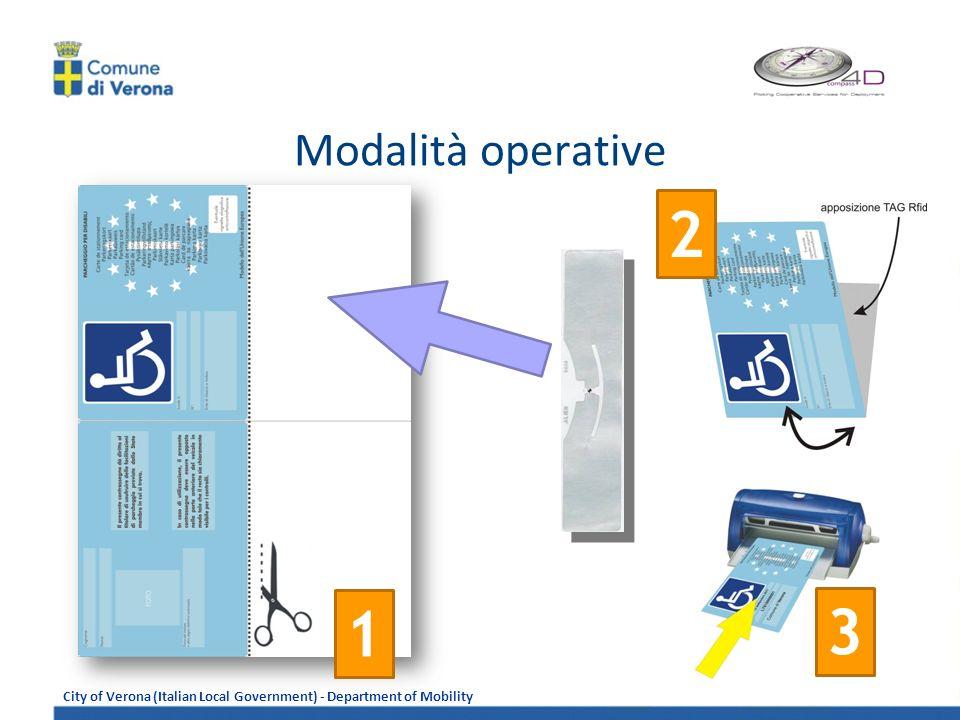 Modalità operative 2 1 3