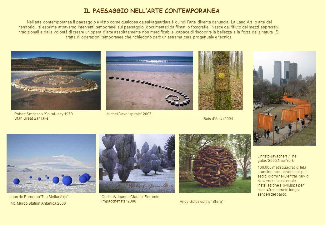 IL PAESAGGIO NELL'ARTE CONTEMPORANEA
