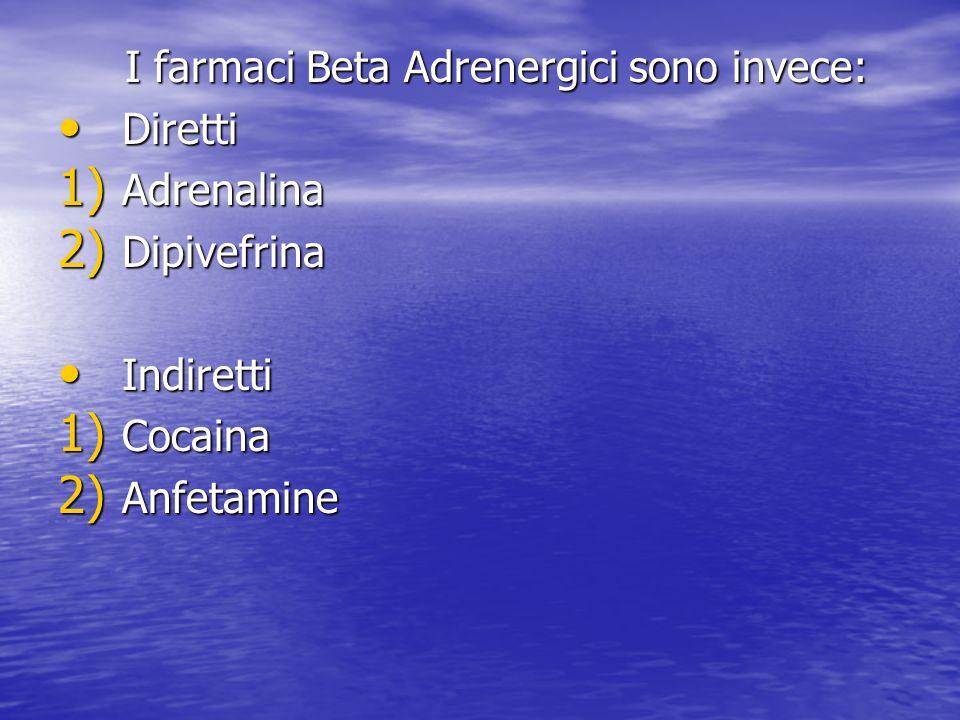 I farmaci Beta Adrenergici sono invece: