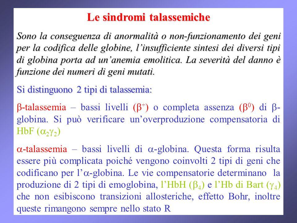 Le sindromi talassemiche