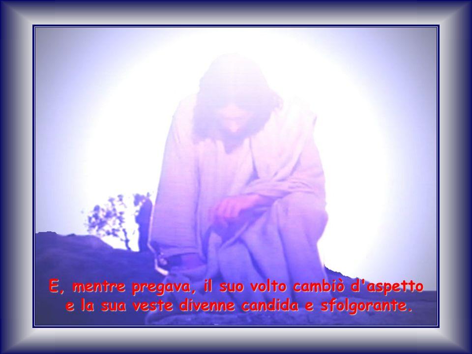 E, mentre pregava, il suo volto cambiò d aspetto