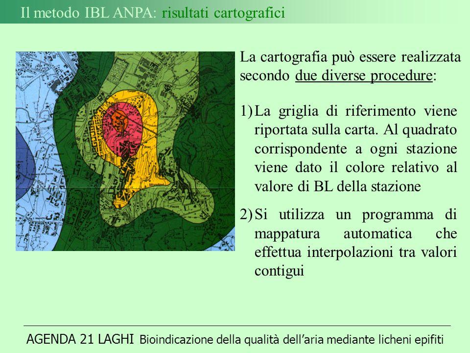 Il metodo IBL ANPA: risultati cartografici