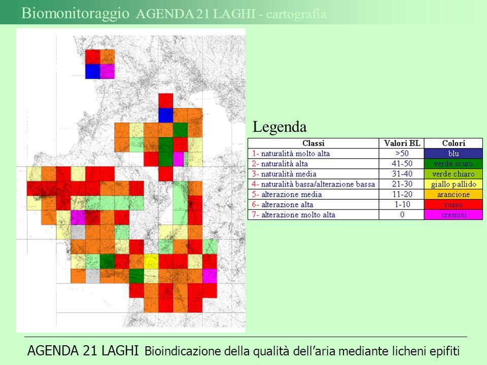 Biomonitoraggio AGENDA 21 LAGHI - cartografia