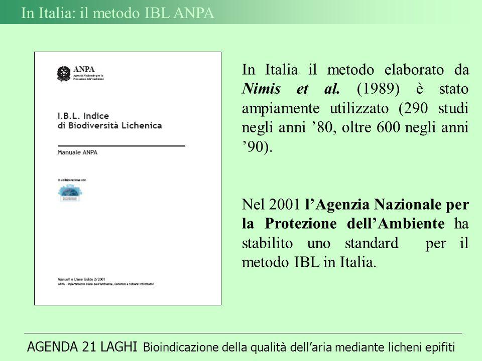 In Italia: il metodo IBL ANPA