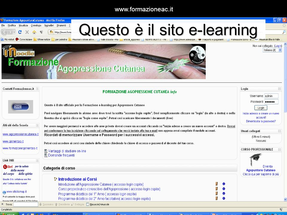 Questo è il sito e-learning
