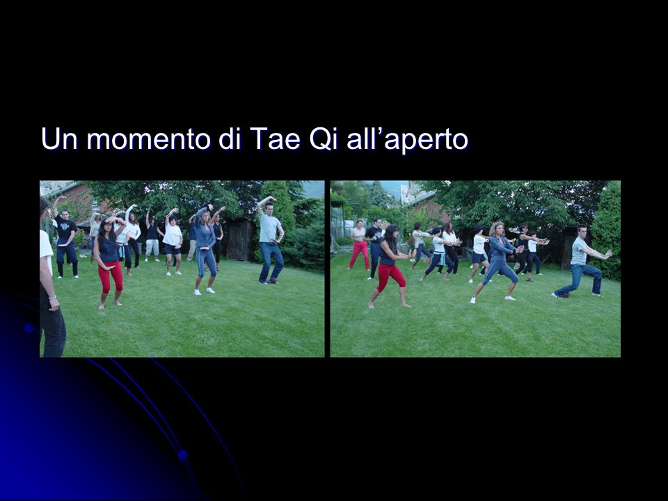Un momento di Tae Qi all'aperto