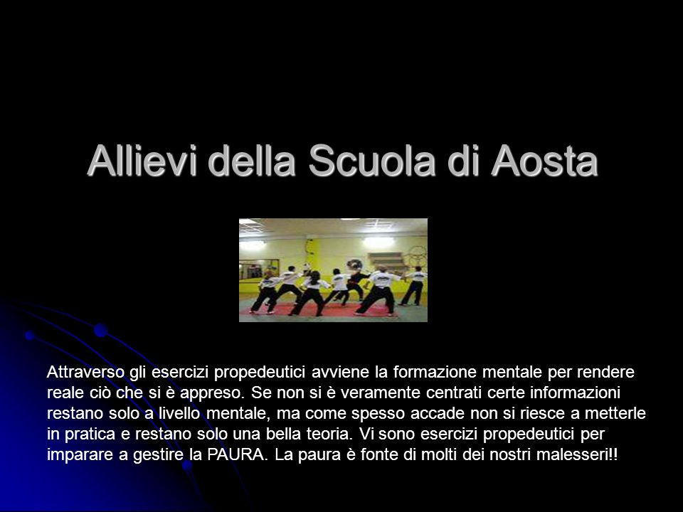 Allievi della Scuola di Aosta