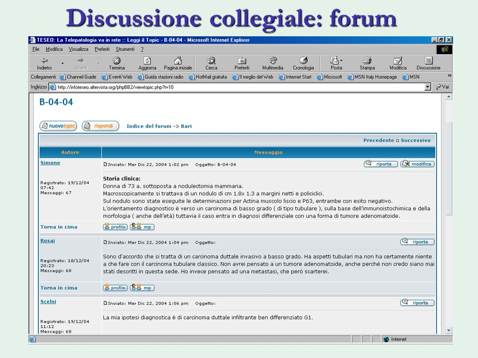Discussione collegiale: forum