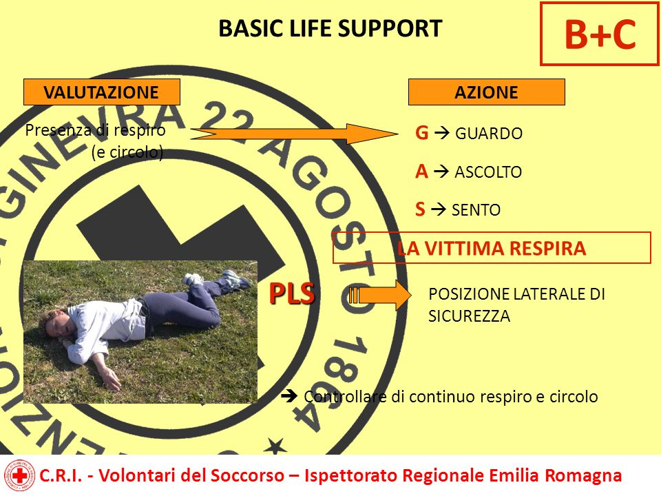 B+C PLS BASIC LIFE SUPPORT G  GUARDO A  ASCOLTO S  SENTO