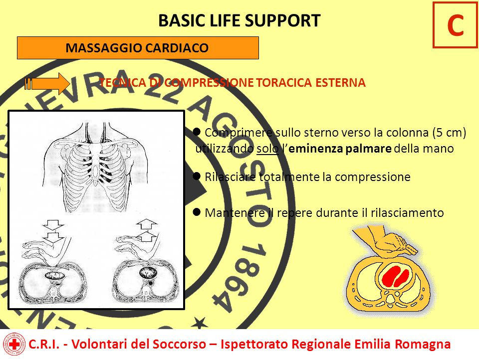 C BASIC LIFE SUPPORT MASSAGGIO CARDIACO