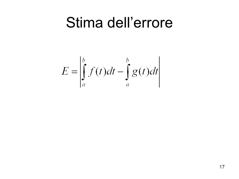 Stima dell'errore