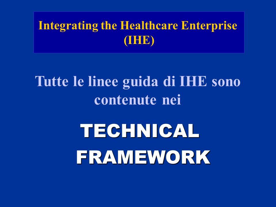 TECHNICAL FRAMEWORK Tutte le linee guida di IHE sono contenute nei