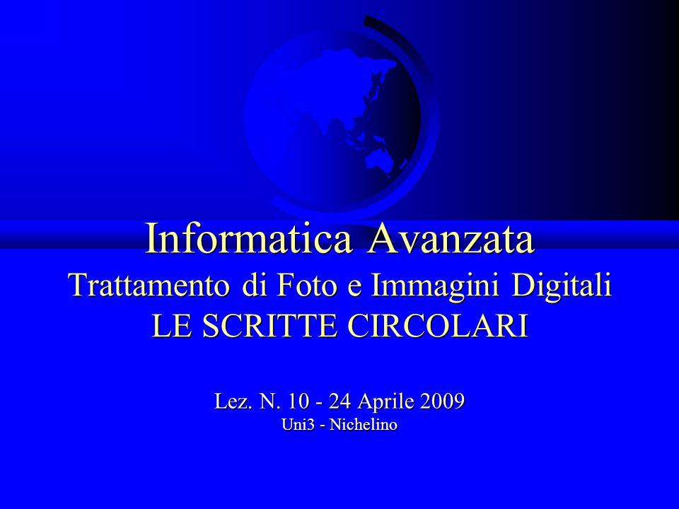 Lez. N. 10 - 24 Aprile 2009 Uni3 - Nichelino