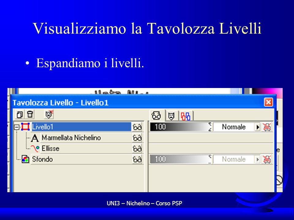Visualizziamo la Tavolozza Livelli