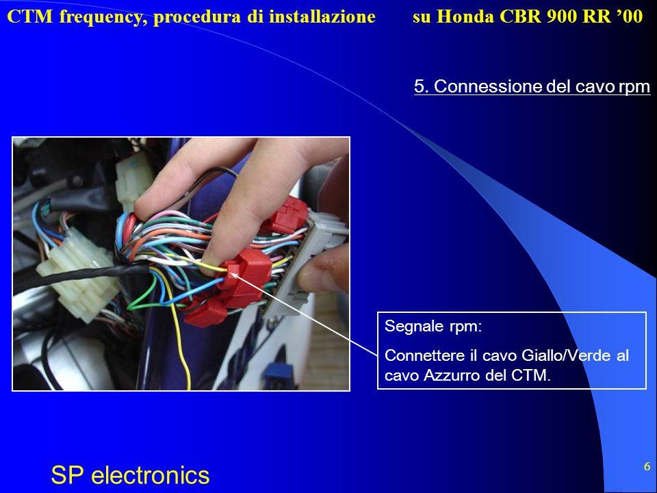 5. Connessione del cavo rpm