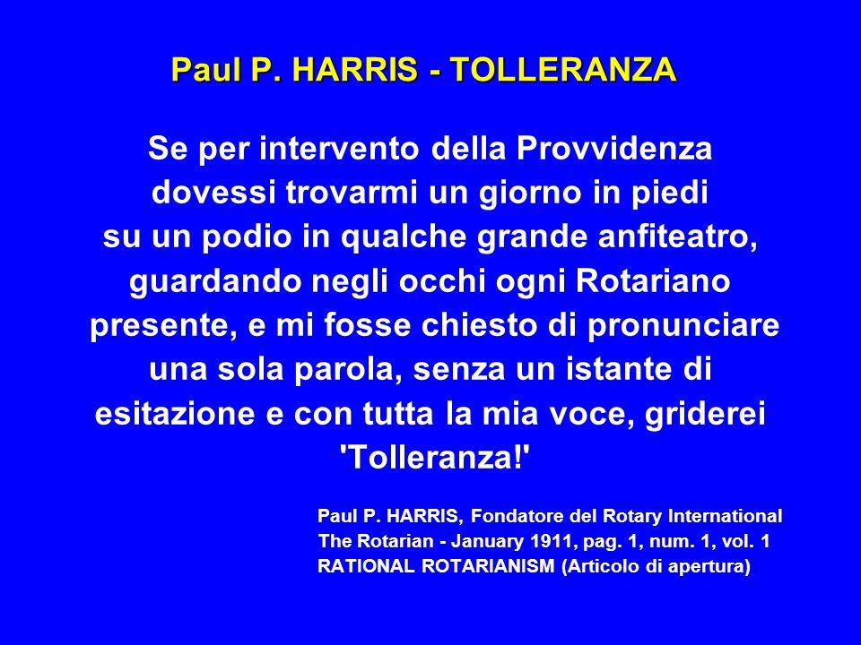 Paul P. HARRIS - TOLLERANZA