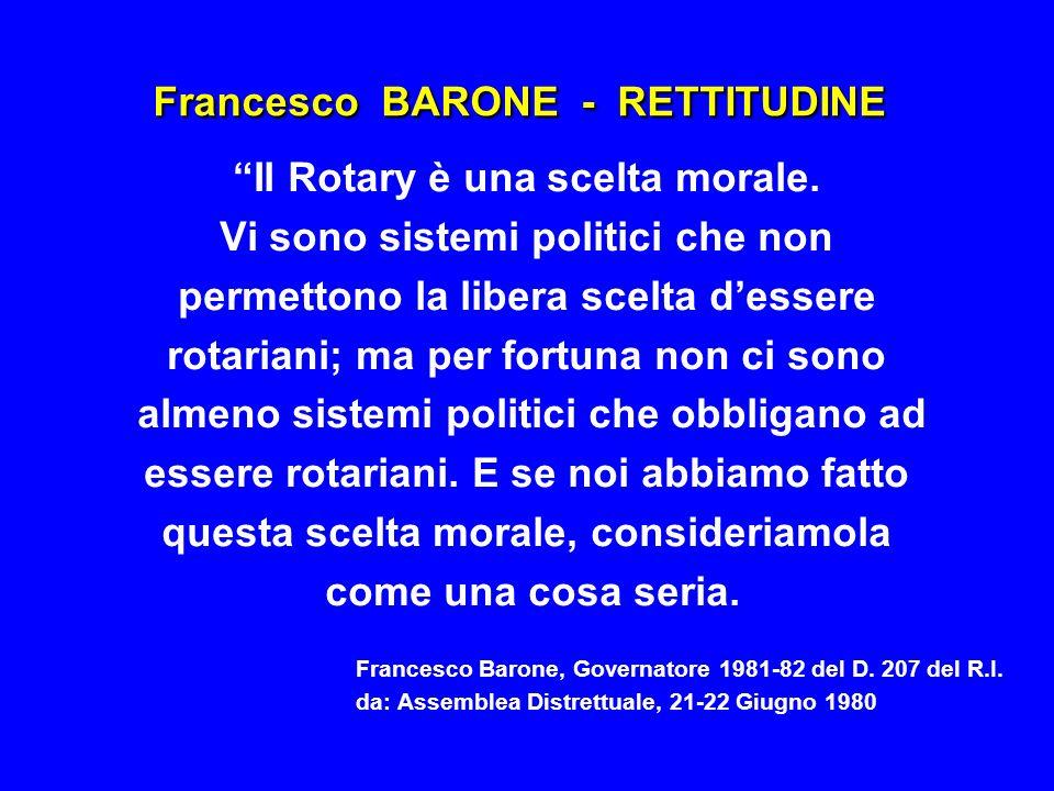 Francesco BARONE - RETTITUDINE