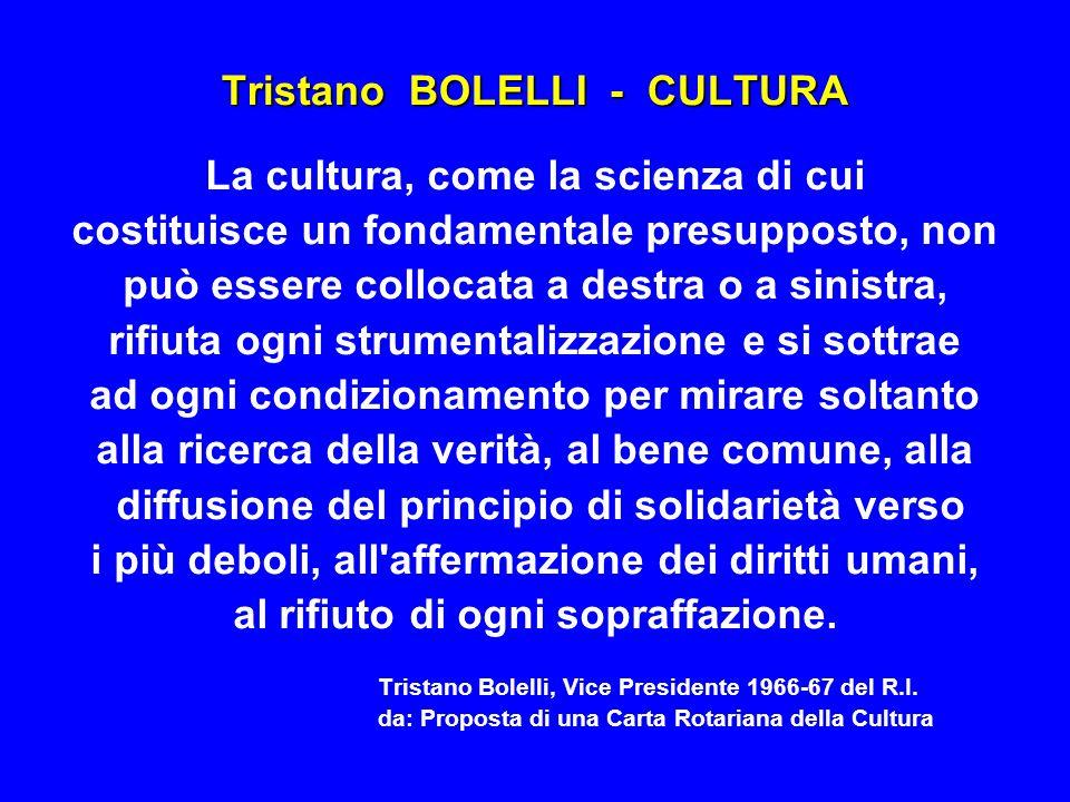 Tristano BOLELLI - CULTURA
