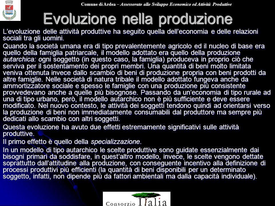 Evoluzione nella produzione