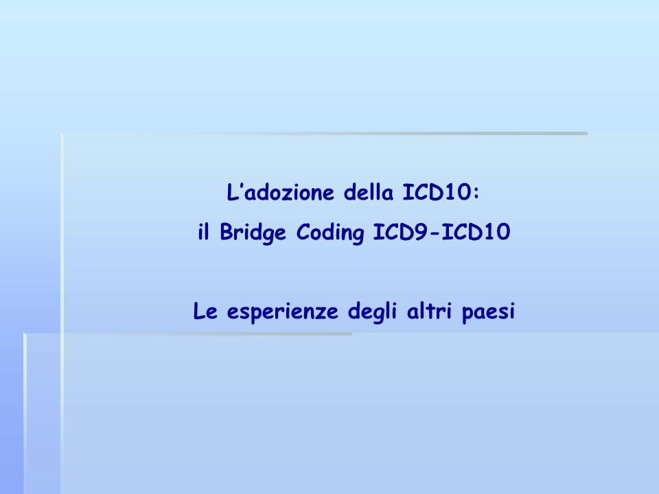 il Bridge Coding ICD9-ICD10 Le esperienze degli altri paesi