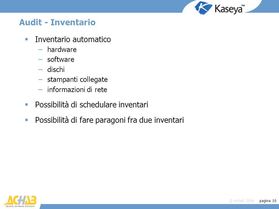 Audit - Inventario Inventario automatico
