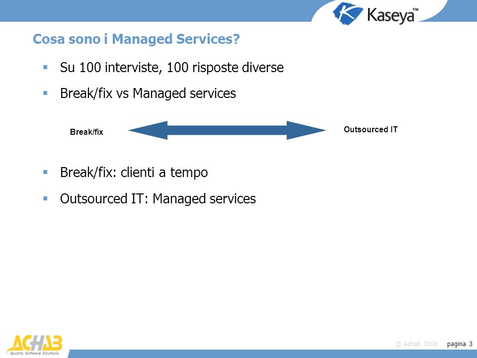 Cosa sono i Managed Services