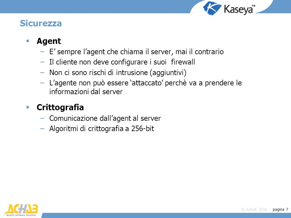 Sicurezza Agent Crittografia