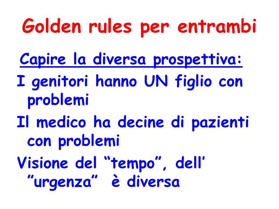 Golden rules per entrambi