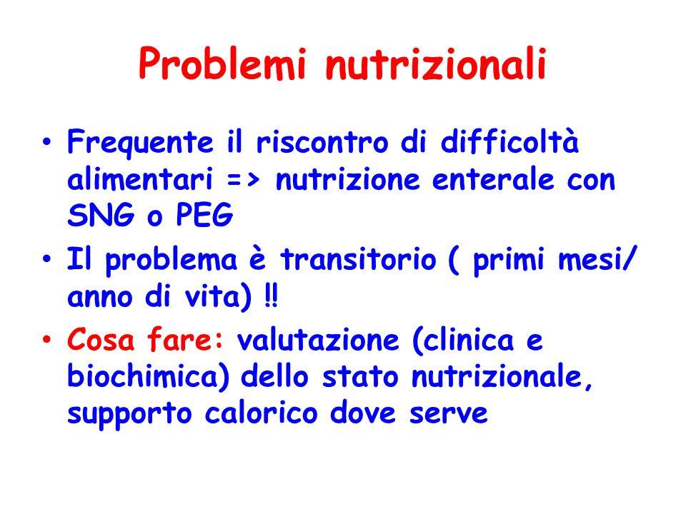 Problemi nutrizionali