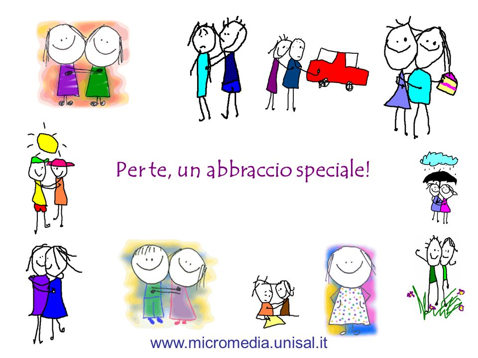 Per te, un abbraccio speciale!