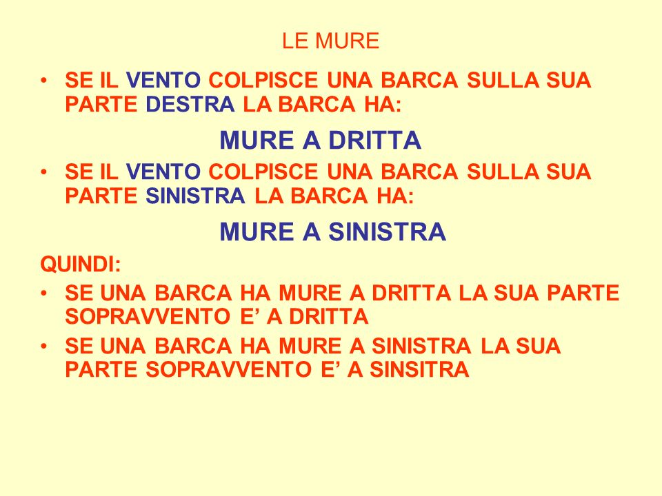 MURE A DRITTA MURE A SINISTRA LE MURE