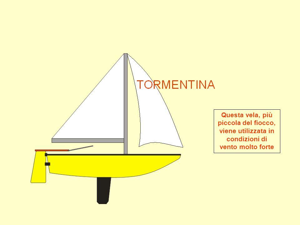 Questa vela, più piccola del fiocco, viene utilizzata in condizioni di vento molto forte