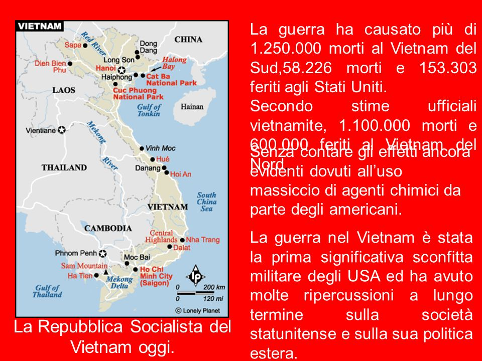 La Repubblica Socialista del Vietnam oggi.