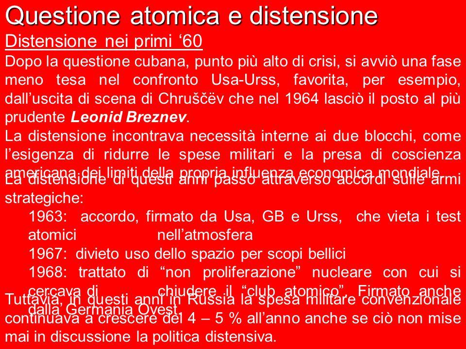 Questione atomica e distensione