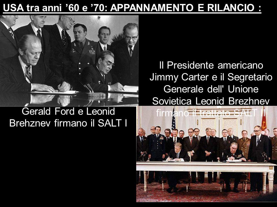 Gerald Ford e Leonid Brehznev firmano il SALT I