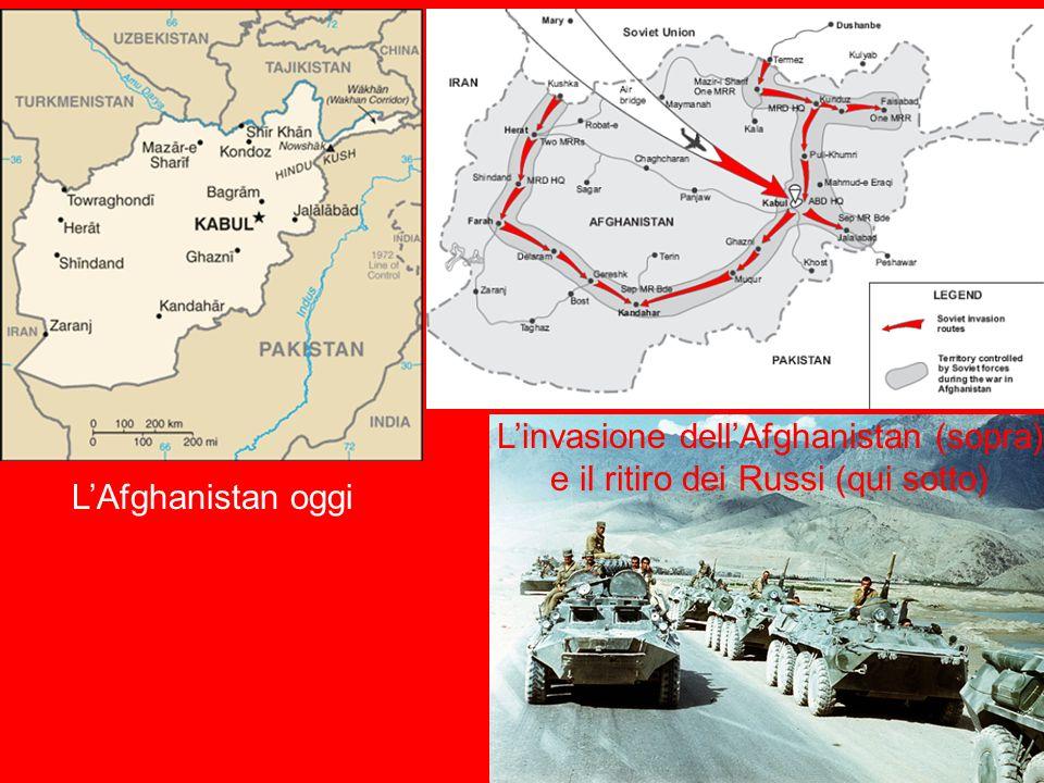 L'invasione dell'Afghanistan (sopra) e il ritiro dei Russi (qui sotto)